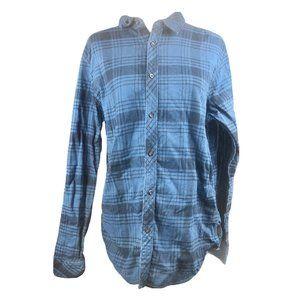 The North Face Heavyweight Blue Flannel Shirt